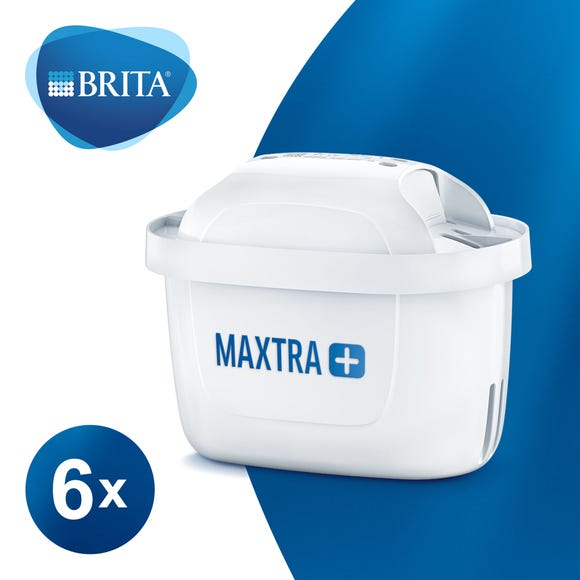 BRITA MAXTRA+ Water Filter Cartridges - 6 Pack White