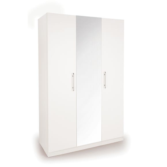 Acton Triple Wardrobe White