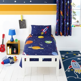 Space Glow in the Dark Duvet Cover and Pillowcase Set