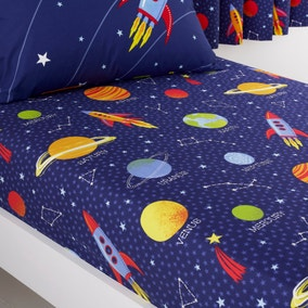 Space Navy Fitted Sheet