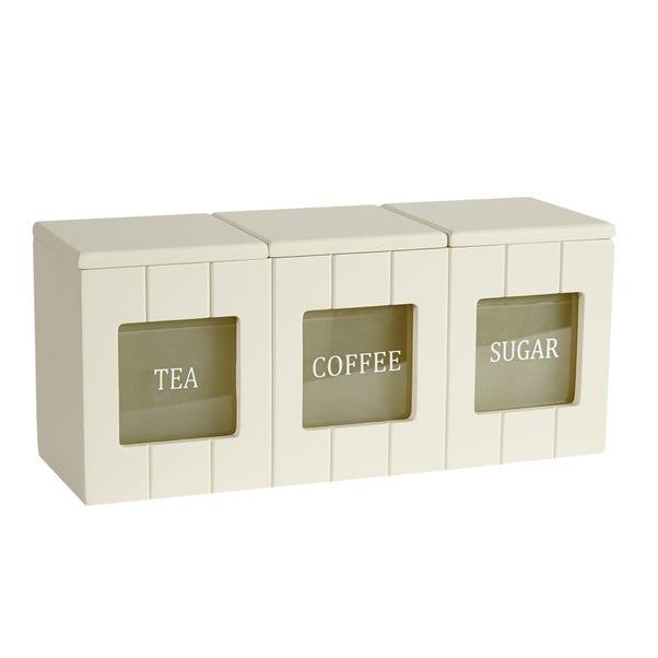 Secret Garden Cream Tea Coffee and Sugar Canister Cream