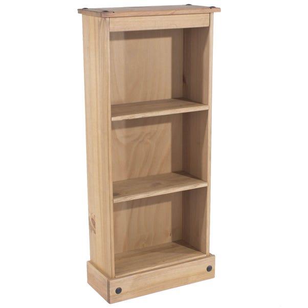Corona 3 Shelf Low Bookcase Pine (Brown)