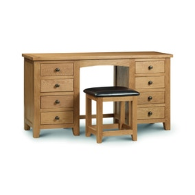 Julian Bowen Marlborough Twin Pedestal Dressing Table