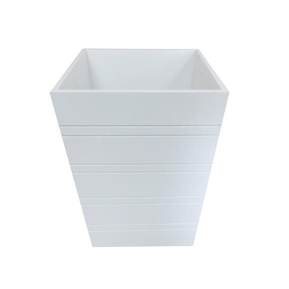 Nautical Tongue and Groove Bin White