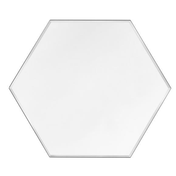 Hexagonal Bevelled Mirror Clear