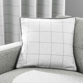 Luna Check Dove Grey Cushion
