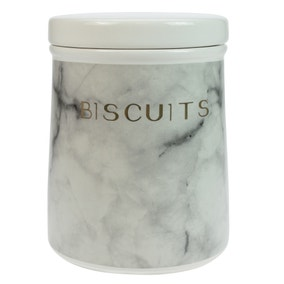 Marble Effect Biscuit Canister