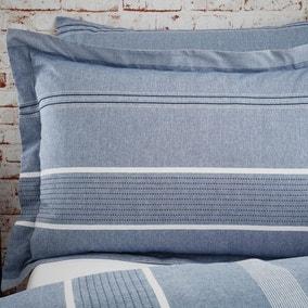 Willington Blue Stripe Woven Oxford Pillowcase