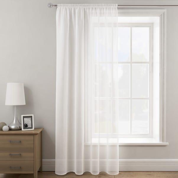 Sheer Elegance White Slot Top Single Voile Panel  undefined
