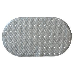 Silver Glitter Bath Mat