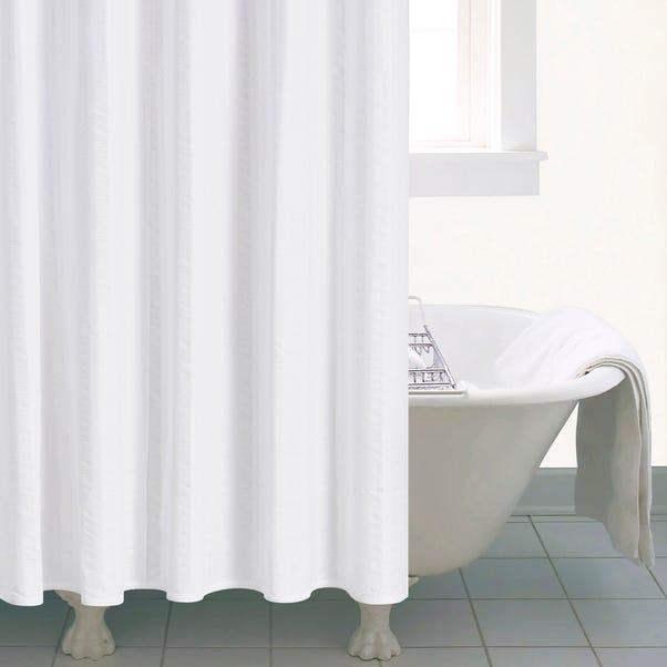 Seersucker Shower Curtain White