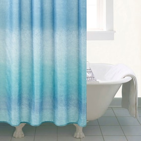 Ombre Blue Shower Curtain