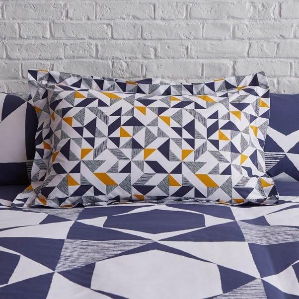 Elements Jaxson Navy Oxford Pillowcase Blue