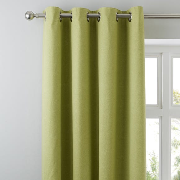 Tyla Green Blackout Eyelet Curtains Green undefined