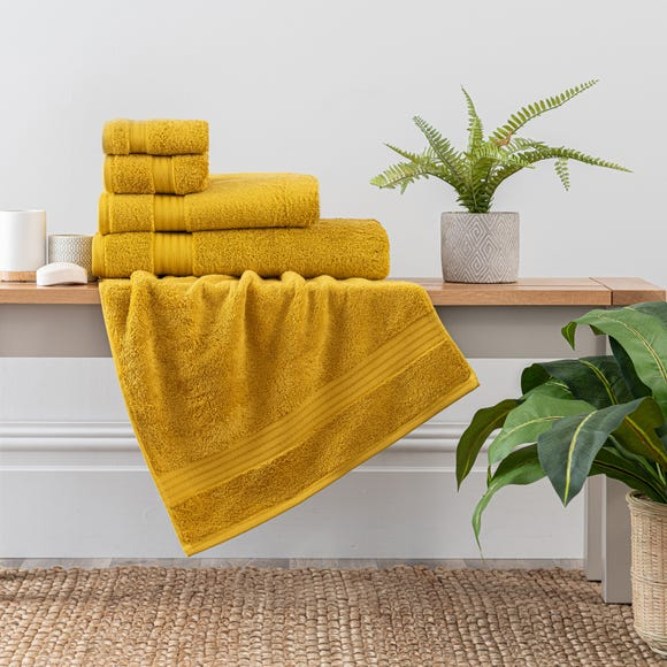 Mustard Egyptian Cotton Towel Mustard undefined