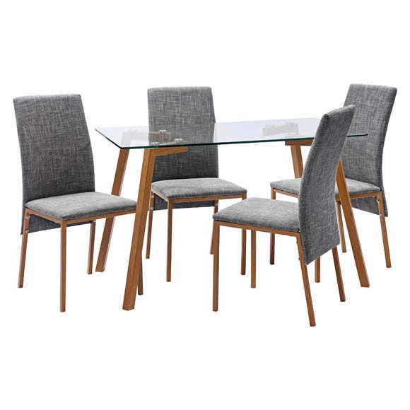 Morton 4 Seater Dining Set Grey