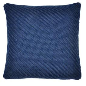 Harvey Blue Knitted Cushion