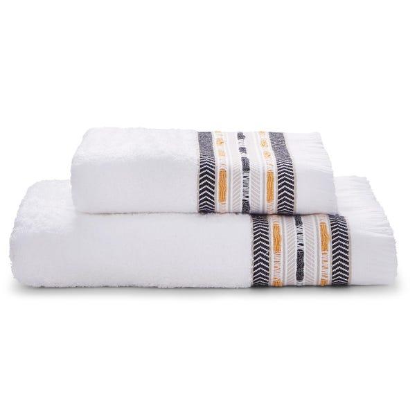 Elements Tribe Fringe Border Towel  undefined