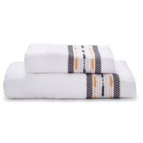 Elements Tribe Fringe Border Towel