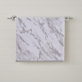 Grey Marble Hand Towel