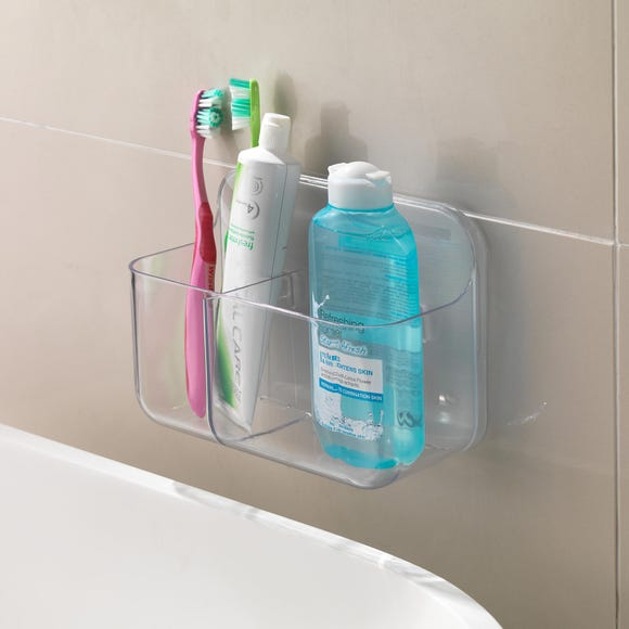 Addis Invisifix Toothbrush Caddy Clear