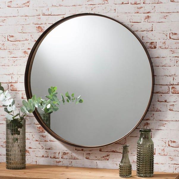 Greystroke 84cm Wall Mirror Brown
