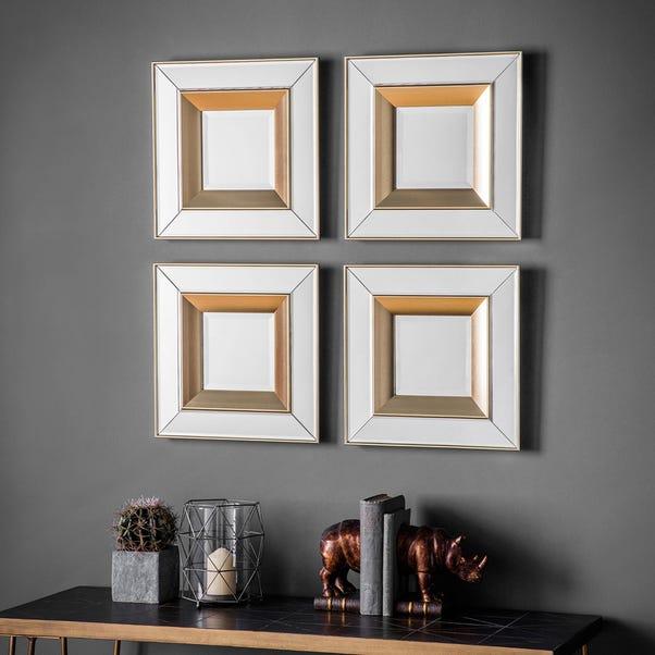 Phantom Set of 4 Wall Mirrors Gold