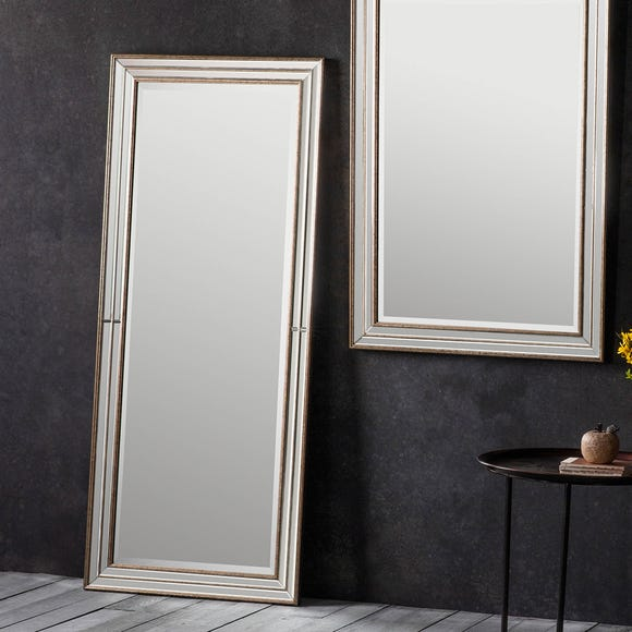 Squire Gold 154x65cm Leaner Mirror Clear