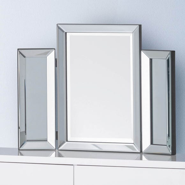 Soprano Folding Dressing Table Mirror Silver