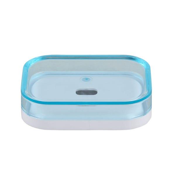 White Plastic Soap Dish Teal (Blue)