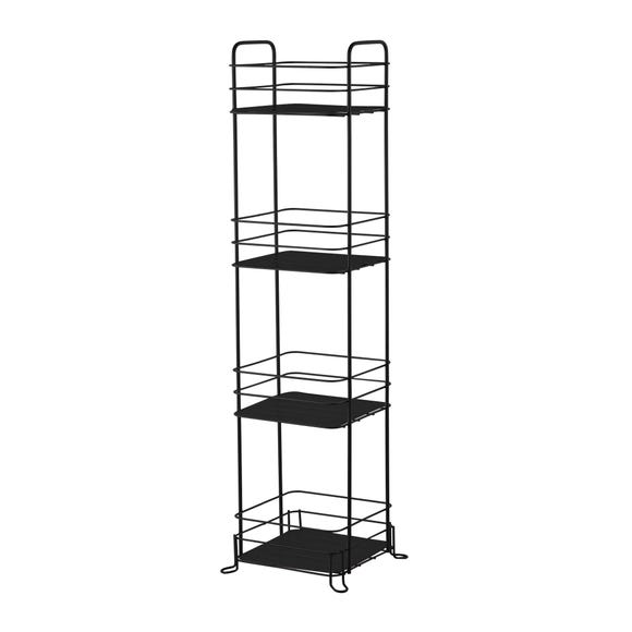4 Tier Black Wire Storage Caddy Black