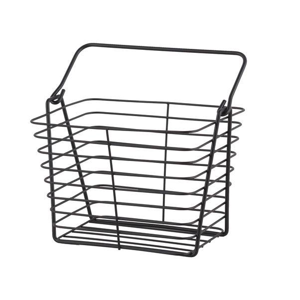 Black Wire Storage Basket Black