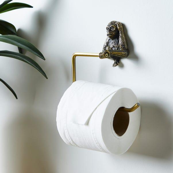 Monkey Toilet Roll Holder Gold