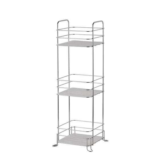 Essentials 3 Tier Storage Caddy Silver