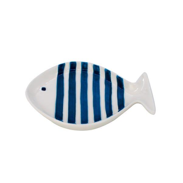 Fish Trinket Dish White