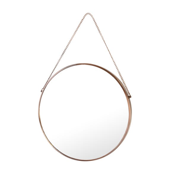 5A Fifth Avenue Round Mirror Rose Gold