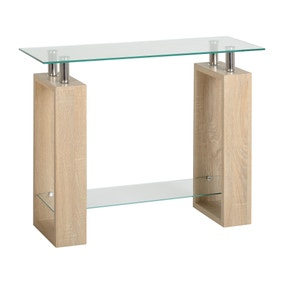 Milan Glass Console Table