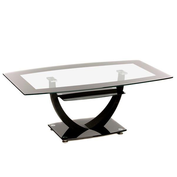 Henrietta Glass Coffee Table Black