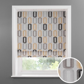 Elements Dahl Ochre Lined Roman Blind