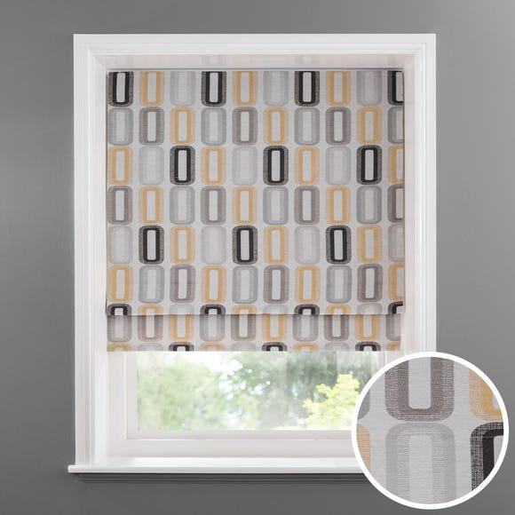 Elements Dahl Ochre Lined Roman Blind  undefined