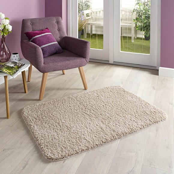 Marvel Shaggy Washable Runner Stone (Natural) undefined