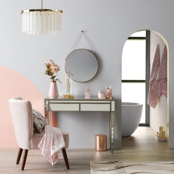 Fitzgerald Mirrored Dressing Table Silver