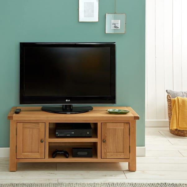 Sherbourne Oak Large TV Stand Natural