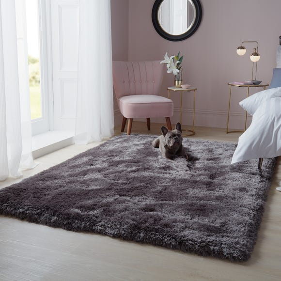 Jewel Shaggy Rug Jewel Steel undefined