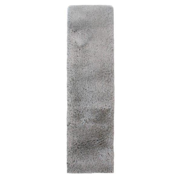 Silver Jewel Shaggy Runner 60x230cm Silver