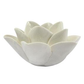 Cream Lotus Tealight Holder