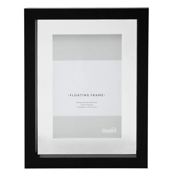 "Black Floating Photo Frame 6"" x 4"" (15cm x 10cm) Black"