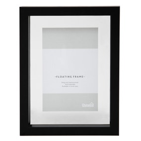 "Black Floating Photo Frame 6"" x 4"" (15cm x 10cm)"