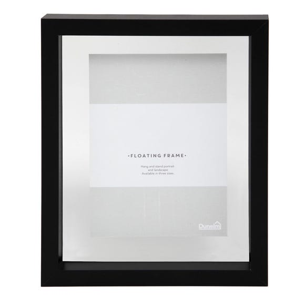 "Black Floating Photo Frame 7"" x 5"" (18cm x 12cm) Black"