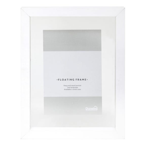 "White Floating Photo Frame 6"" x 4"" (15cm x 10cm) White"